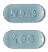 Image of blue pill imprinted N943 / 400