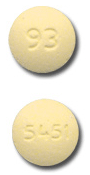 Image of yellow pill imprinted 93 / 5451