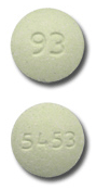 Image of green pill imprinted 93 / 5453