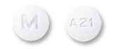 Image of white pill imprinted M / A21