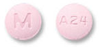 Image of pink pill imprinted M / A24