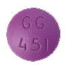 Image of purple pill imprinted GG 451