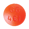 Image of orange pill imprinted GG 461