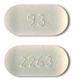 Image of off-white pill imprinted 93 / 2263