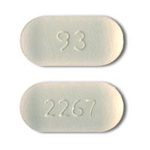 Image of white to off-white pill imprinted 93 / 2267