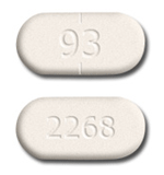 Image of white to off-white pill imprinted 93 / 2268