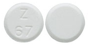 Image of white to off-white pill imprinted Z 67