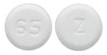 Image of white to off-white pill imprinted Z / 65