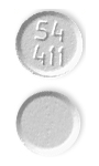 Image of white pill imprinted 54 411