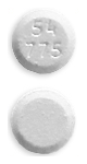 Image of white pill imprinted 54 775