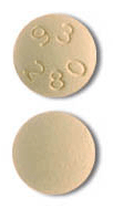 Image of yellow pill imprinted 93 280