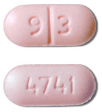 Image of light pink pill imprinted 93 / 4741