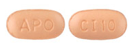 Image of beige-pink pill imprinted APO / CI 10