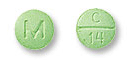 Image of green pill imprinted M / C 14