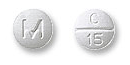 Image of gray pill imprinted M / C 15