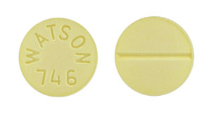 Image of yellow pill imprinted WATSON 746