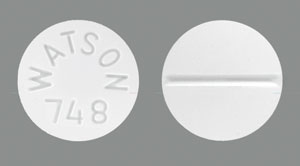 Image of white pill imprinted WATSON 748