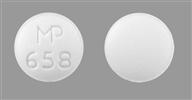 Image of white pill imprinted MP 658