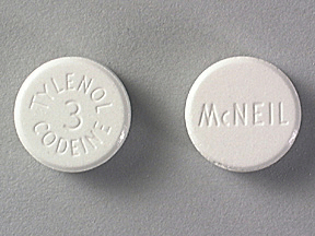 Image of white pill imprinted McNEIL / Tylenol 3 Codeine