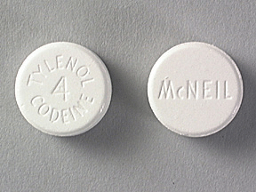Image of white pill imprinted McNEIL / Tylenol 4 Codeine