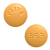 Image of yellow pill imprinted PLIVA / 563