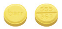 Image of yellow pill imprinted barr / 555 363