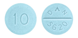 Image of light blue pill imprinted DAN 5620 / 10