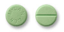 Image of green pill imprinted MYLAN 477