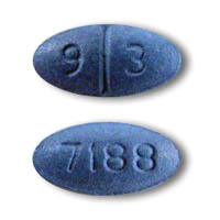 Image of blue pill imprinted 93 / 7188