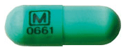 Image of light green pill imprinted M (Boxed) 0661