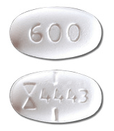 Image of white pill imprinted (Symbol) 4443 / 600