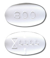 Image of white pill imprinted (Symbol) 4444 / 800