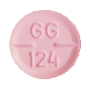 Image of pink pill imprinted GG 124