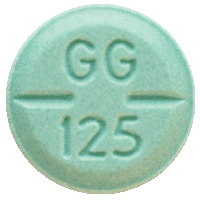 Image of green pill imprinted GG 125