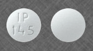 Image of white pill imprinted IP 145