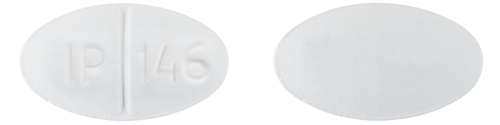 Image of white pill imprinted IP 146