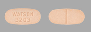 Image of light orange pill imprinted WATSON 3203