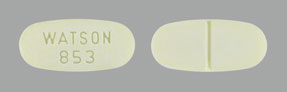 Image of yellow pill imprinted WATSON 853