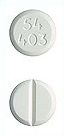 Image of off-white pill imprinted 54 403