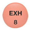 Image of red pill imprinted EXH 8