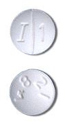 Image of white pill imprinted I 1 / 4821