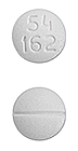 Image of white pill imprinted 54 162