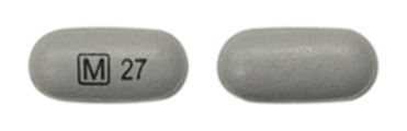 Image of gray pill imprinted M (Boxed) 27