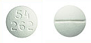 Image of white pill imprinted 54 262