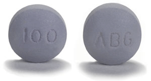 Image of gray pill imprinted ABG / 100