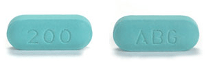 Image of green pill imprinted ABG / 200