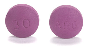 Image of lavender pill imprinted ABG / 30