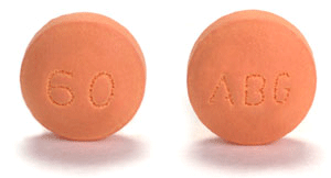 Image of orange pill imprinted ABG / 60