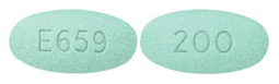 Image of green pill imprinted E659 / 200