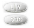 Image of white pill imprinted LV / 930
